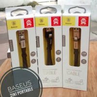 Jual Baseus 2 in 1 Lightning & Microusb Cable for iPhone & Android Murah