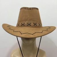 Topi Cowboy Cokelat   Topi Mexico   Topi Koboi - Laken