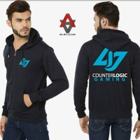 Jaket Sweater Hoodie Counter Logic Gaming - Hitam - Al-Ayubi Clothing