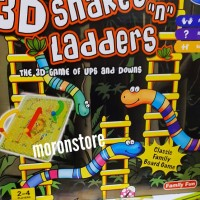 Family Game 3D Snake and Ladders Ular Tangga 3 dimensi