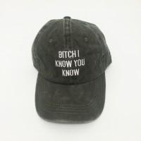 Bitch I Know You Know Rihanna Anti Tour Topi Baseball Cap Olive Green