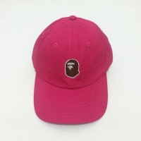 Topi Baseball A Bathing Ape Bape Head Cap Pink
