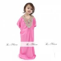 Jual Baju Gamis Modern Busana Muslim Pink Anak 1 2 3 4 5 6 AGD3469