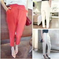 CELANA PANJang wanita putih white pants trousers baju kantor highwaist