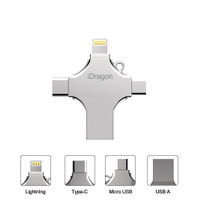 iDragon U010 64GB - 4 in 1 Flash Drive Metal Lightning Micro USB Type-