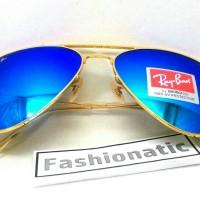 Kacamata Ray Ban Aviator Gold Frame w/ Blue Tosca Lens