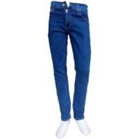 Harga celana jeans denim pria panjang model skinny pensil biru biowash | Hargalu.com