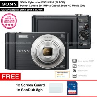 SONY Cyber-shot DSC-W810 BLACK (Resmi) + SanDisk 8gb + Screen Guard