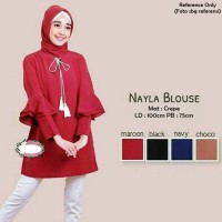 Jual Stok Ready Fashion Busana wanita atasan Blouse Nayla Blouse Murah