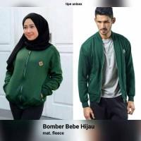Bebe Bomber Jacket Emerald Jaket Hoodie Sweater Polos Pria Wanita