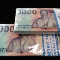 uang kuno Rp 1000 rupiah Pattimura mahar nikah bekasi gepokan jadul