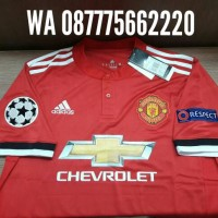 Jual JERSEY MANCHESTER UNITED HOME FULL PATCH UCL NEW SEASON 2017/2018 Murah