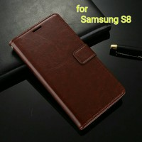 Jual Flip Cover Samsung Galaxy S8 Wallet Leather Case Murah