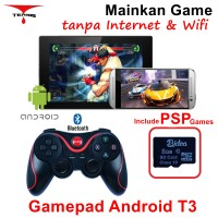 Bluetooth Terios Gamepad T3 Android VR 3D + 8Gb Game PSP SDCard -G02