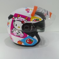 DYR Helmet JP 2 Motif Hello Kitty White