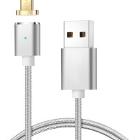 Jual MAGNETIC CHARGER CABLE NYLON 2 IN 1 FOR IPHONE & MICRO Murah