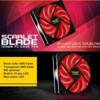 Fan Casing Armageddon Scarlet/ Azure Blade 12cm Led