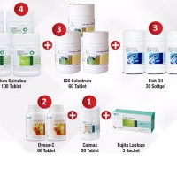 Elken Spirulina IG 6 Colostrum Fish Oil Dynecx-C Calmax
