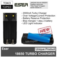 Eser 6 Dual 18650 Turbo Charger | battery baterai slot mod rda vape