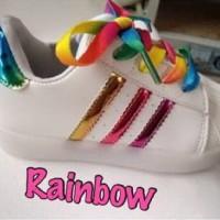 sepatu adidas superstar rainbow lace tali kw sz 21-36