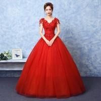 harga 1706005 Merah Gaun Pengantin Wedding Gown Wedding Dress Tokopedia.com
