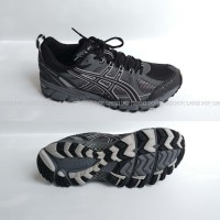 Asics Gel Kahana 7 T0E0Q Duomax Mens 8.5 Black Gray Athletic
