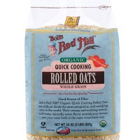 BOBS RED MILL Organic Quick Cooking Rolled Oats Whole Grain 907 g