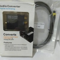 Converter (Optic)Digital to (Rca)Analog Audio + Kabel Toslink 1.5m