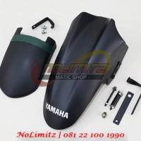 Paket Spakbor Extensi Depan Hugger Kolong Belakang Yamaha Aerox 155