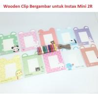Fujifilm Instax Mini Jepitan Foto Wooden Clip Gambar untuk Instax
