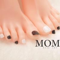 Jual FAKE NAILS / KUKU PALSU Black and White Toe Nails Murah