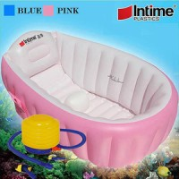 Jual PAKET INTIME BABY BATH TUB PINK + POMPA 5 INCH - BAK MANDI BAYI Murah