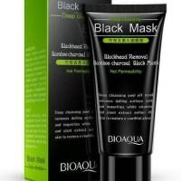 Jual bioaqua black mask bamboo charcoal carbon coral. remove blackhead Murah