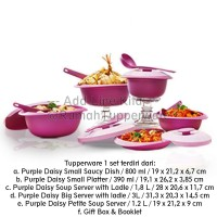 Tupperware Purple Daisy Set