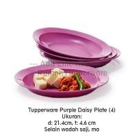 Tupperware Purple Daisy Plate (4pcs)