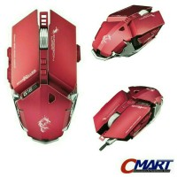 Dragon War StarKiller G16 Blue Sensor Gaming Mouse RED - ELE-G16-RED