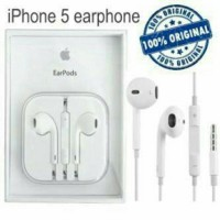 EARPHONE EARPOD HANDSFREE HEADSET IPHONE 5 5S 5C 6 6S 6+ APPLE ORI
