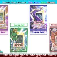 Yugioh Starter Deck Karakter Yugi, Kaiba, Joey, Pegasus (KW)