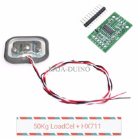 Weight Sensor 50Kg Load Cell + Module Hx711 24bit ADC gain amplifier