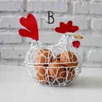Keranjang Telur Ayam B PUTIH / L PUTIH muat untuk 6 - 8 telur ayam