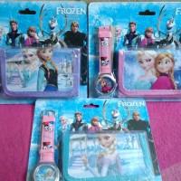 Jam Tangan+Dompet Frozen/ Jam Tangan Frozen/ Jam tangan anak