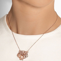 Kalung Kenzo Tiger Rose Gold-plated Cubic Zirconia