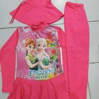 Baju Renang anak2 Muslim karakter SD(Frozen)