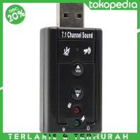 USB 2.0 to Virtual 7.1 Channel Audio Sound Card Adapter with CM108