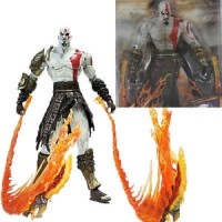 "7"" Neca God of War 2 Kratos Flame Action Figure Toy Movable Joints Toy"