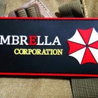 Resident Evil UMBRELLA CORPORATION 3D TACTICAL AIRSOFT PVC BADGE PAT