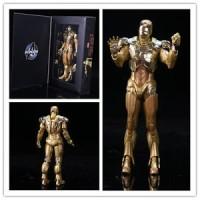 "7"" Hot Marvel Toys Avengers Age of Ultron Gold Iron Man Mark PVC Acti"
