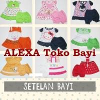 Baby Dress 0-12bln Setelan Celana Bayi Perempuan New Born Baju Grosir