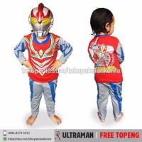 GROSIR - Baju Setelan Anak Kostum + Topeng Superhero Ultramen