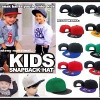 topi anak snapback polos kids balita hat cap cucok buat custom bro